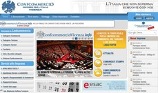 L'home page del sito ascom.vi.it