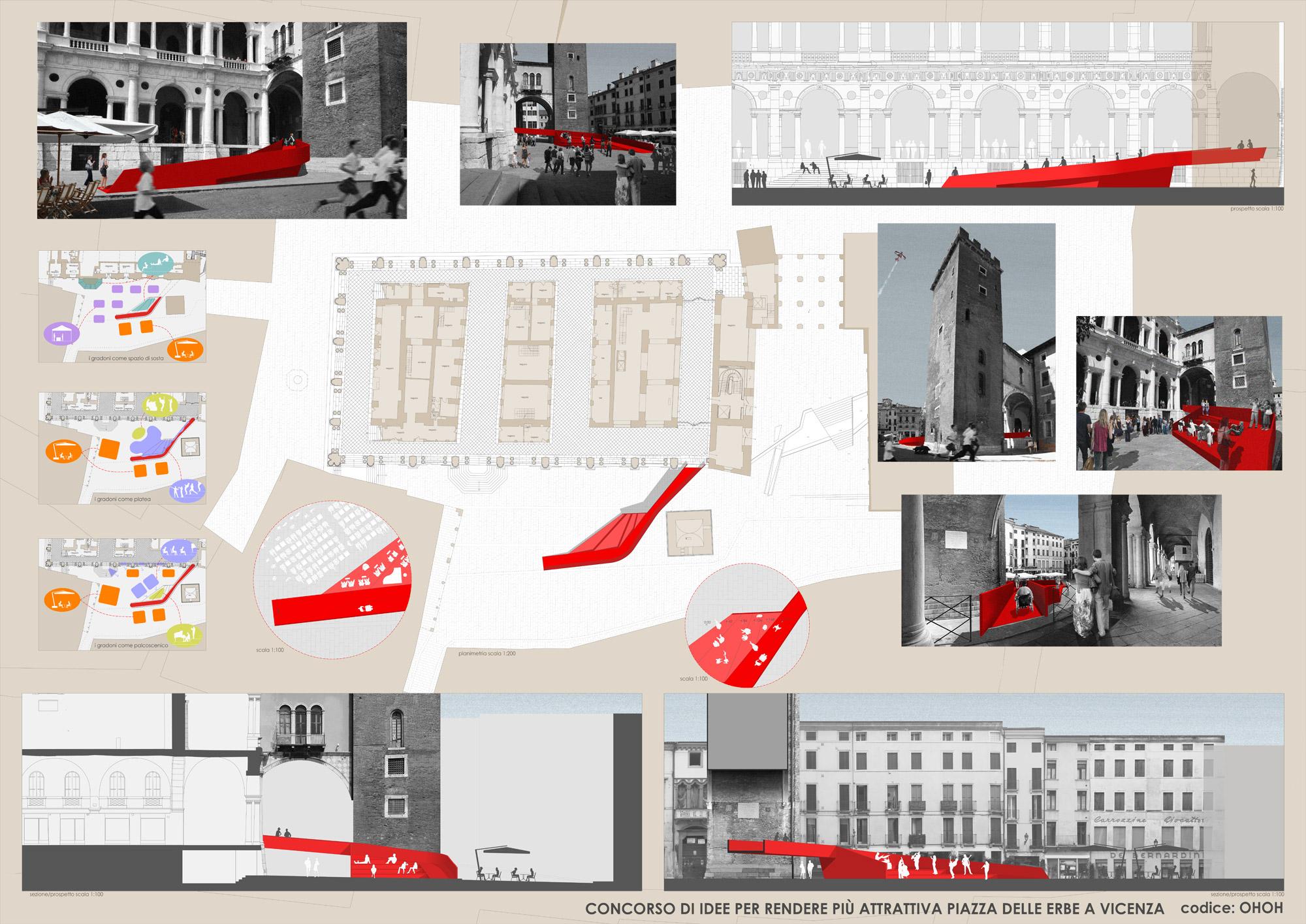 I risultati del concorso nuove idee per piazza delle erbe - Tavole di concorso architettura ...